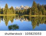 Grand Teton Peaks With Water...