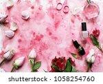 flowers. spring mood. beautiful ... | Shutterstock . vector #1058254760
