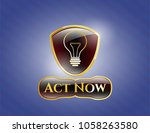 shiny emblem with idea icon... | Shutterstock .eps vector #1058263580