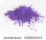 violet mica powder pigments for ... | Shutterstock . vector #1058265413