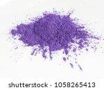 violet mica powder pigments for ...   Shutterstock . vector #1058265413