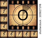 illustration of film countdown. ... | Shutterstock .eps vector #105827198