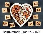 microelements  in different... | Shutterstock . vector #1058272160