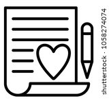 a document with heart sign and... | Shutterstock .eps vector #1058274074