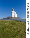 st catherine's lighthouse on... | Shutterstock . vector #1058274554