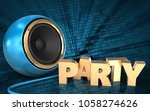 3d illustration of blue sound... | Shutterstock . vector #1058274626