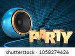 3d illustration of blue sound... | Shutterstock . vector #1058274626