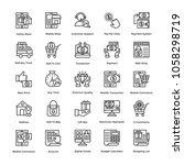 shopping line icons vector set    Shutterstock .eps vector #1058298719