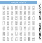 shutters. plantation  panel ... | Shutterstock .eps vector #1058303093