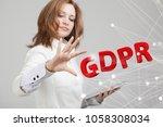 gdpr concept image. general... | Shutterstock . vector #1058308034