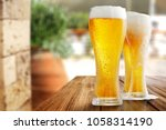 summer beer and free space for... | Shutterstock . vector #1058314190