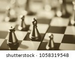 chess. macro image with small... | Shutterstock . vector #1058319548