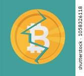 crypto currency bitcoin... | Shutterstock .eps vector #1058326118