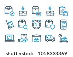 shipping  delivery and... | Shutterstock .eps vector #1058333369