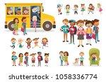 large set of children's... | Shutterstock .eps vector #1058336774