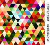 a colorful geometric triangle... | Shutterstock . vector #1058341883