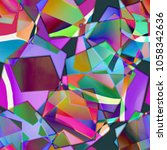 a colorful abstract patchwork... | Shutterstock . vector #1058342636