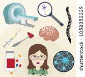 neurologist profession concept... | Shutterstock .eps vector #1058352329