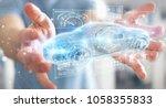 businessman on blurred... | Shutterstock . vector #1058355833