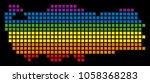 a pixel lgbt pride turkey map...   Shutterstock .eps vector #1058368283