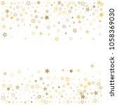 gold stars background frame... | Shutterstock .eps vector #1058369030