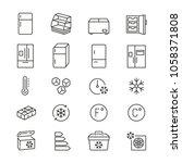 fridge related icons  thin... | Shutterstock .eps vector #1058371808