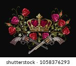 classical embroidery revolvers  ... | Shutterstock .eps vector #1058376293