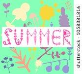 phrase summer. vector...