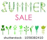 phrase summer sale. vector...