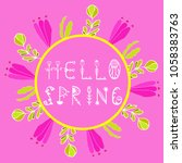 phrase hello spring. vector...
