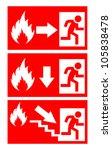 fire danger signs set  vector...   Shutterstock .eps vector #105838478