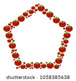 contour pentagon mosaic of...   Shutterstock .eps vector #1058385638