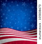 fourth of july background with... | Shutterstock . vector #105838673
