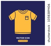 filled t   shirt vector icon...