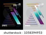 t shirt design sports running... | Shutterstock .eps vector #1058394953