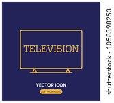tv vector icon illustration   Shutterstock .eps vector #1058398253