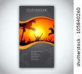 summer time brochure template   ... | Shutterstock .eps vector #105840260