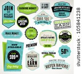 Set of affiliate and referral badges and stickers | Shutterstock vector #105841238