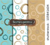 set of 3 colorful backgrounds... | Shutterstock .eps vector #105841604