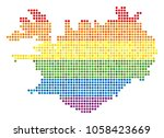 a dotted lgbt pride iceland map ... | Shutterstock .eps vector #1058423669