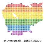 a dotted lgbt pride cambodia... | Shutterstock .eps vector #1058425370