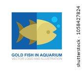 goldfish in aquarium vector... | Shutterstock .eps vector #1058427824