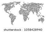 global world concept map...   Shutterstock .eps vector #1058428940