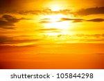 Orange Sky. Sunset Photo As...