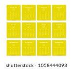 calendar design concept 2018.... | Shutterstock .eps vector #1058444093