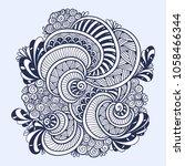 abstract zen tangle zen doodle... | Shutterstock .eps vector #1058466344