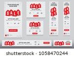 festival sale banners... | Shutterstock .eps vector #1058470244