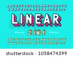 trendy display font popart... | Shutterstock .eps vector #1058474399
