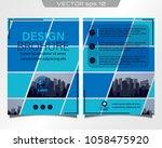 poster flyer pamphlet brochure... | Shutterstock .eps vector #1058475920