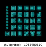 tech ront  technology vector... | Shutterstock .eps vector #1058480810
